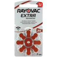 Rayovac 312 Hearing Aid Battery – pack of 8 batteries