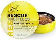 RESCUE® Pastilles Orange and Elderflower flavour